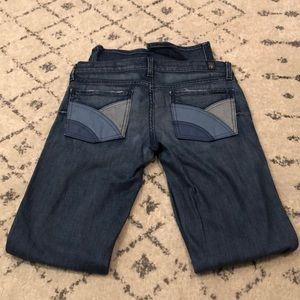 7 For All Mankind Leather Pocket Jean